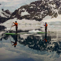 AdventureSmith Explorations is offering a new stand-up paddleboarding experience in the Galapagos and Antarctica. // © 2016 AdventureSmith...