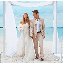 Sandals estimates that more than 200,400 footprints were made on its resorts' beaches during weddings. // © 2013 Sandals Resorts