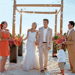 A small guest list means wedding couples can be flexible with their date and plan a tropical ceremony in a short period of time. // © 2015 Sandals...