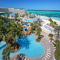 <p>Melia Nassau Beach Hotel is currently upgrading its rooms and dining facilities, all to be completed by October 2014. // © 2014 Nassau Paradise...