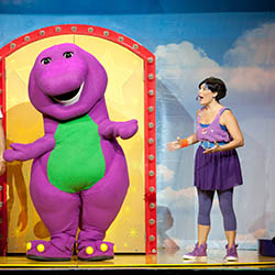 <p>Guests who stay at Hard Rock Hotel & Casino Punta Cana can watch Barney on stage during live musical presentations. // © 2016 Hard Rock Hotel...