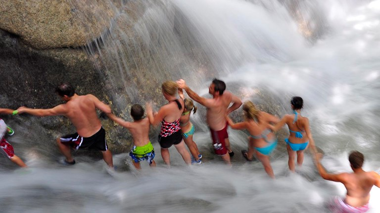 Groups love visiting Dunn's River Falls in Jamaica.