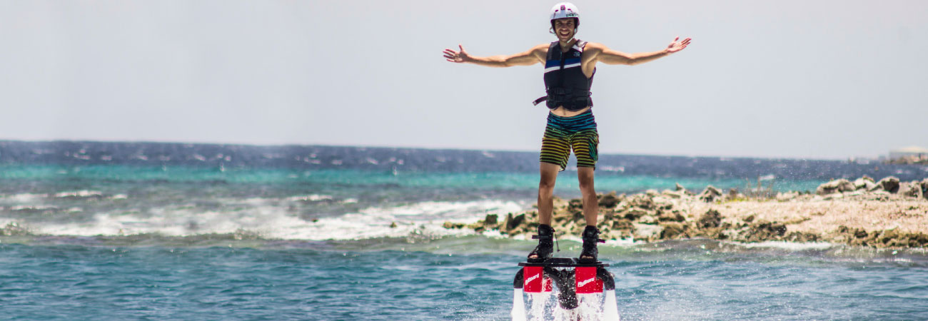 Flyboarding in the Caribbean