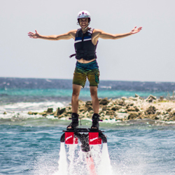 Flyboarding is a fun new way to fly. // © 2014 Zapata Flyboard Caribbean