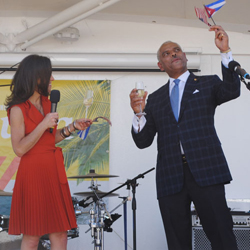 <p>Tara Russell, president of Fathom and global impact lead for Carnival Corporation & Plc, and Arnold Donald, CEO of Carnival Corporation &...