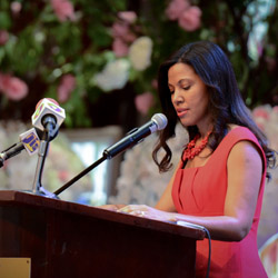 <p>Jamaica Hotel & Tourist Association president Nicola Madden-Greig delivered the opening speech. // © 2015 Jamaica Hotel & Tourist...