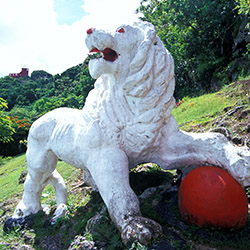 <p>See the famous lion sculpture by Barbados' Gun Hill Signal Station. // © 2017 Barbados Tourism Authority</p><p>Feature image (above): Snorkeling at...