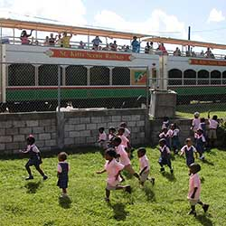 <p>St. Kitts Scenic Railway allows passengers to hop onboard for a scenic 18-mile ride while listening to a bit of island lore. // © 2016 St. Kitts...