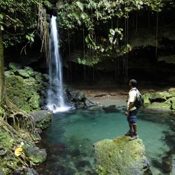 "Dominica is nicknamed ""The Nature Island"" for its lush landscape. // © Discover Dominica Authority"