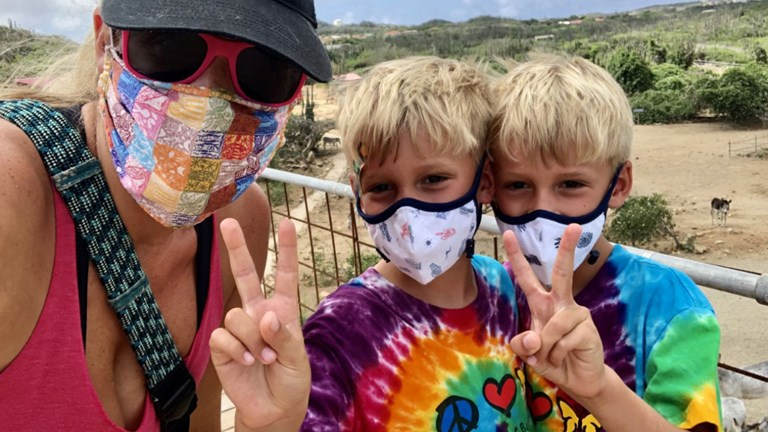 Travel advisor Kacie Darden and her twin boys decided to begin their school year in Aruba.