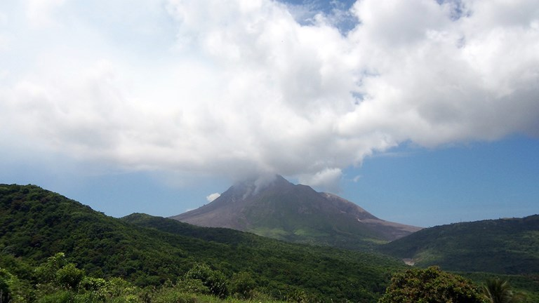 The active Soufriere Hills Volcano keeps the inhabitants of Montserrat on their toes.