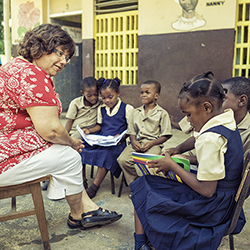 <p>Several Caribbean hotels have voluntourism programs in place, such as Sandals Resorts International's Reading Road Trip. // © 2015 Sandals Resorts...