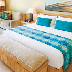 Guestrooms at Elbow Beach Resort have been updated with fresh decor and new flooring. // © 2015 Elbow Beach Resort