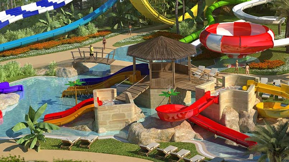 A rendering of the waterpark at Memories Splash Punta Cana // © 2013 Blue Diamond Resorts F
