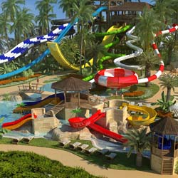 A rendering of the waterpark at Memories Splash Punta Cana // © 2013 Blue Diamond Resorts