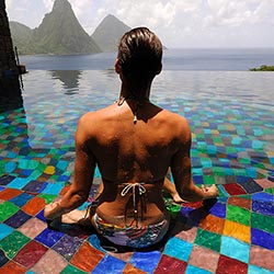 <p>Each room at Jade Mountain Resort on Saint Lucia has its own infinity pool and views of the Pitons. // © 2017 Jade Mountain</p><p>Feature image...