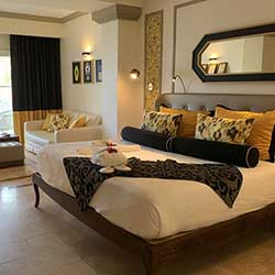 <p>Grand Palladium Lady Hamilton Resort & Spa recently underwent a $20 million refresh and features Caribbean-inspired decor. // © 2016 Dana...