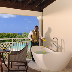 <p>Sandals Royal Caribbean Resort & Private Island's Butler Suites now feature an outdoor soaking tub. // © 2015 Sandals Resorts</p><p>Feature...