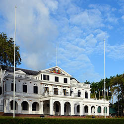 Visit several popular attractions in Suriname, such as the Presidential Palace in Paramaribo. // © 2017 iStock