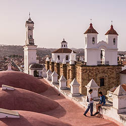 Bolivia's capital city of Sucre is known for its many churches and colonial architecture. // © 2016 iStock