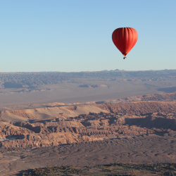<p>Visitors can choose to explore the Atacama region by hot-air balloon. // © 2017 Mark Chesnut/LatinFlyer.com</p><p>Feature image (above): The unique...