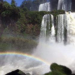 <p>Iguazu Falls is located in northeastern Argentina's Iguazu National Park. // © 2017 Kenneth Shapiro</p><p>Feature image (above): The falls are one...