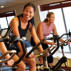 Crystal Symphony now offers new fitness equipment by Technogym. // © 2014 Crystal Cruises