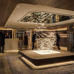 The new Le Soleal has contemporary interiors designed by Jean-Philippe Nuel. // © 2013 Compagnie du Ponant
