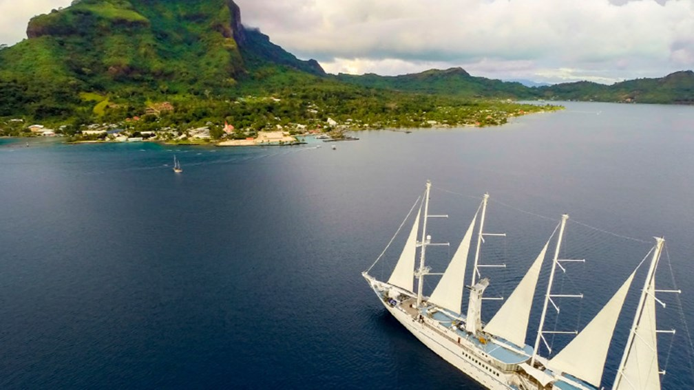 Wind Spirit sails to several islands in French Polynesia, such as Bora Bora. // © 2016 Windstar Cruises 2