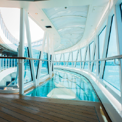 The ship features a glass-bottomed, 60-foot promenade. // © 2013 Princess Cruises