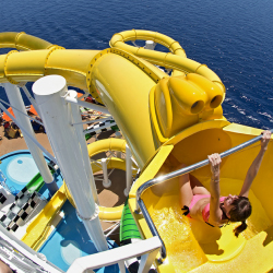 Sunshine features a WaterWorks water park with three slides. // © 2013 Carnival Cruise Lines
