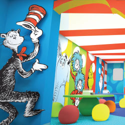 Seuss at Sea will feature fun kids' amenities, such as Bookville. // © 2014 Carnival Cruise Lines