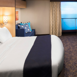 <p>Virtual balconies give inside stateroom guests a digital view of the sea. // © 2015 Royal Caribbean International</p><p>Feature image (above):...