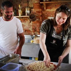 <p>A guest in the Oceania program learns the finer points of pizza-making. // © 2015 Oceania Cruises</p><p>Feature image (above): Excursions include...