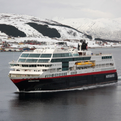 "<p>Midnatsol was featured in the documentary ""Hurtigruten 365."" // © 2016 Hurtigruten</p><p>Feature image (above): Passengers can trace Europe's..."
