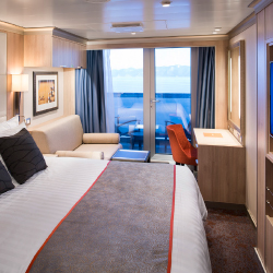 <p>A verandah stateroom onboard Koningsdam // © 2016 Michel Verdure</p><p>Feature image (above): The new Koningsdam first set sail in April. // © 2016...