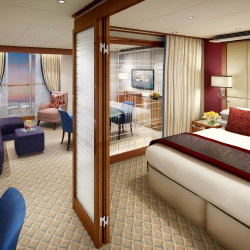 <p>The Penthouse Suite is one of the room options onboard Encore. // © 2016 Seabourn Cruise Line</p><p>Feature image (above): The Retreat on Encore...