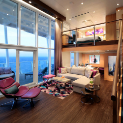 <p>A Sky Loft Suite offers a private balcony and panoramic views. // © 2017 Royal Caribbean International</p><p>Feature image (above): From...