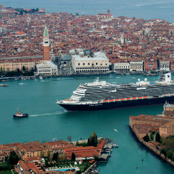 <p>The ship's decor is a departure from HAL's previously established design. // © 2017 Holland America Line</p><p>Feature image (above): World Stage...