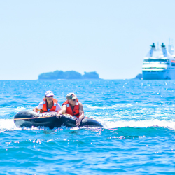 <p>Passengers had free time to participate in watersports. // © 2017 Windstar Cruises</p><p>Feature image (above): Windstar's President's Cruise took...
