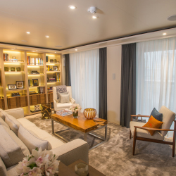 <p>The living room of a Viking Sky Owner's Suite // © 2017 Viking Ocean Cruises</p><p>Feature image (above): Viking Sky boasts new features that...