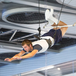 <p>Anthem of the Seas passengers can try their luck on the trapeze at the onboard circus school. // © 2015 Royal Caribbean International</p><p>Feature...