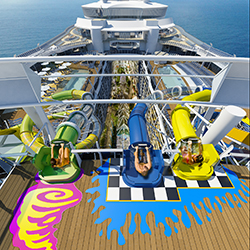 "<p>Harmony of the Seas will feature three new waterslides: Cyclone, Monsoon and Typhoon.  // © 2015 Royal Caribbean</p><p>Feature Image (above): ""We..."
