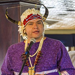 <p>Un-Cruise Adventures invites J.R. Spencer, a Nez Perce Native American, to speak to guests about his tribe and native traditions. // © 2016...