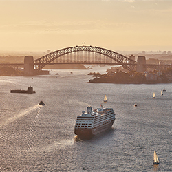<p>Guests on the 18-night Australia Country Intensive Voyage will have the chance to climb the Sydney Harbour Bridge or see an opera in Sydney. // ©...