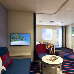 <p>Family Harbor accommodations onboard Carnival Vista offer space for up to five guests. // © 2015 Carnival Cruise Lines</p><p>Feature image (above):...