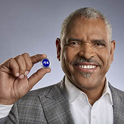 <p>Arnold Donald, CEO of Carnival Corporation & Plc, models the line's new Ocean Medallion. // © 2017 Carnival Corporation & Plc</p><p>Feature...