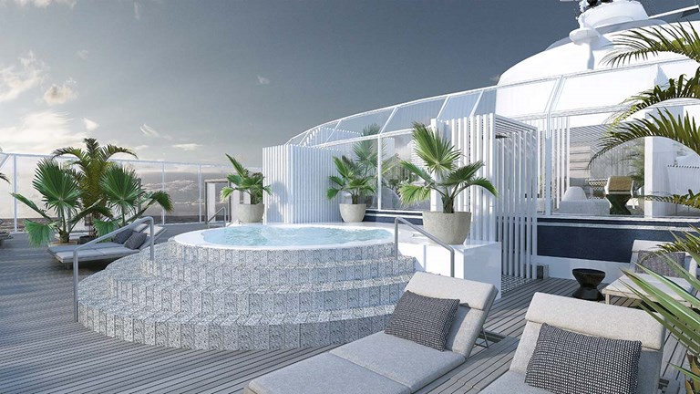 The Retreat Sundeck, available exclusively to Suite Class guests