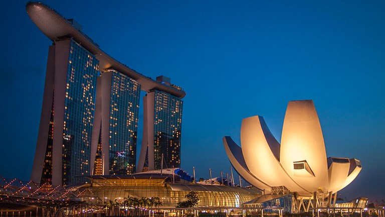 Guests may overnight at Singapore's iconic Marina Bay Sands hotel.
