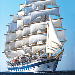 <p>Star Clippers has a fleet of tall ships, including the Royal Clipper. // © 2016 Star Clippers</p><p>Feature image (above): The new 300-passenger...